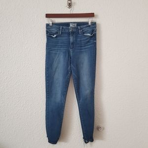 PAIGE Hoxton High Rise Cropped Raw Hem Jeans